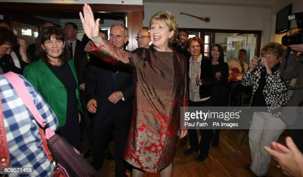 President Mary McAleese is welcomed to officially open Culturlann McAdam O Fiaich on the Falls road in Belfast a new stateoftheart premises which...