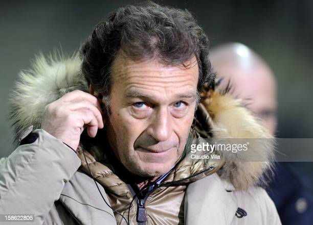 President Massimo Cellino of Cagliari Calcio during the Serie A match between Cagliari Calcio and FC Juventus at Stadio Ennio Tardini on December 21...
