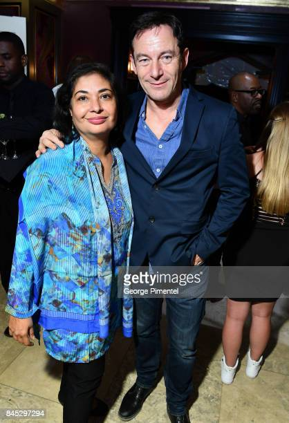 President Meher Tatna and Jason Isaacs attends The Hollywood Foreign Press Association and InStyle's annual celebrations of the 2017 Toronto...