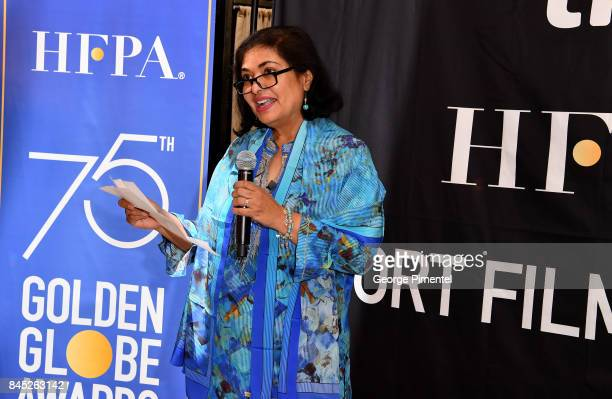 President Meher Tatna presents the firstever 'HFPA TIFF Short Film Award' at The Hollywood Foreign Press Association and InStyle's annual...