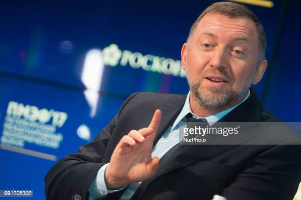 President Member of the Board of Directors RUSAL Oleg Deripaska attends a session of the St Petersburg International Economic Forum Russia June 1 2017