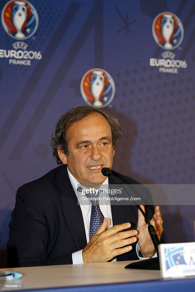 President Michel Platini during the EURO 2016 Steering Committee Meeting, on October 17, 2013 in Marseille, France.