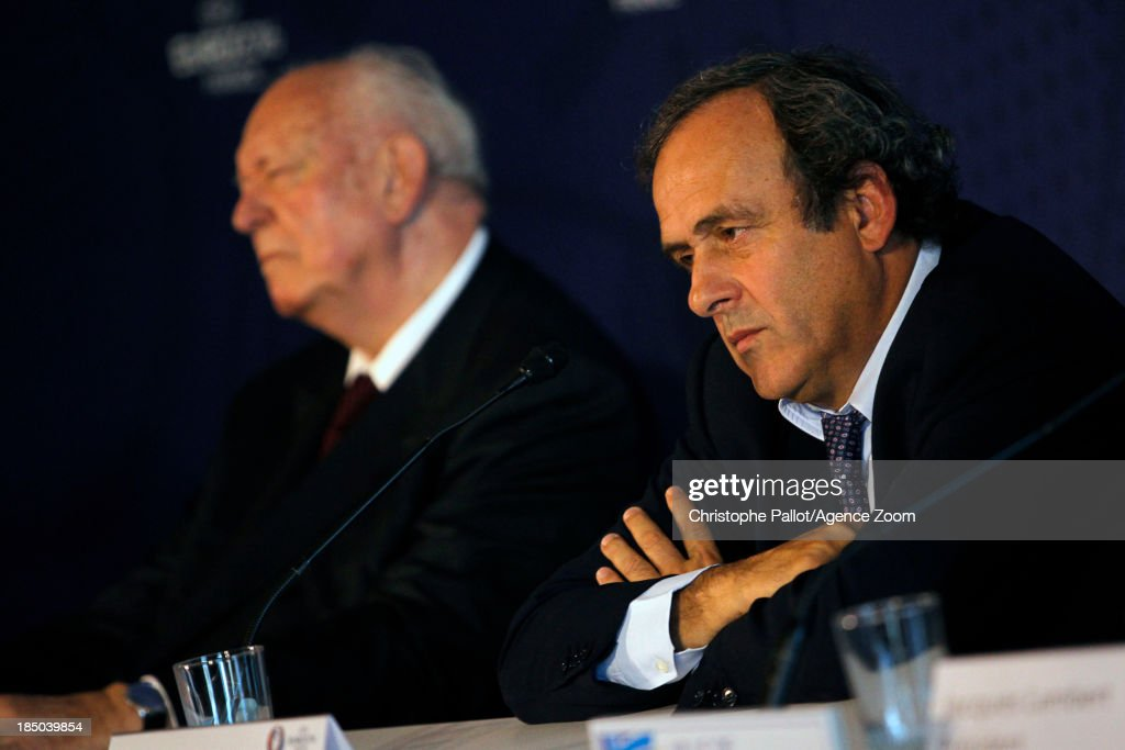 President <a gi-track='captionPersonalityLinkClicked' href=/galleries/search?phrase=Michel+Platini&family=editorial&specificpeople=206862 ng-click='$event.stopPropagation()'>Michel Platini</a> during the EURO 2016 Steering Committee Meeting, on October 17, 2013 in Marseille, France.