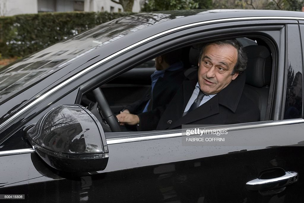 photo of Michel Platini  - car
