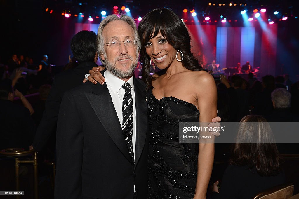 President Neil Portnow and TV personality Shaun Robinson attend the 55th Annual GRAMMY Awards Pre-GRAMMY Gala and Salute to Industry Icons honoring L.A. Reid held at The Beverly Hilton on February 9, 2013 in Los Angeles, California.