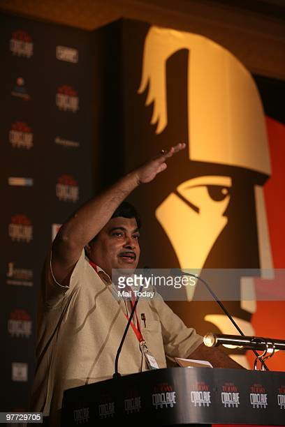 President Nitin Gadkari at the India Today Conclave in New Delhi on March 12 2010