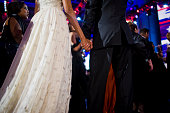 President Obama and first lady Michelle Obama at the Neighborhood Inaugural Ball in Washington DC The first lady wore a dress by Designer Jason Wu