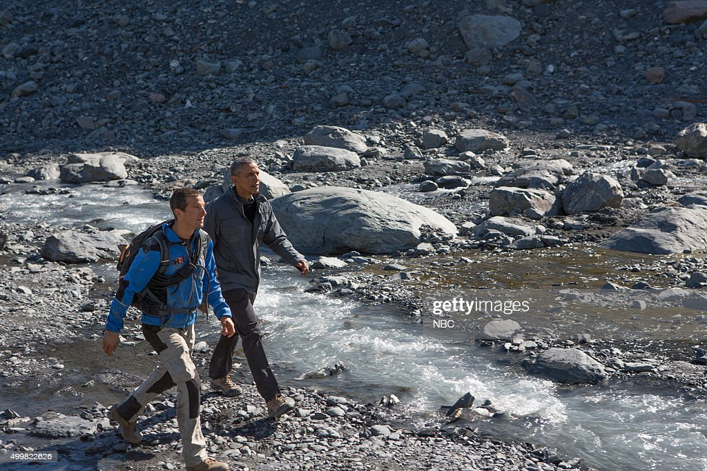 GRYLLS -- 'President Obama' Episode 209 -- Pictured: (l-r) Bear Grylls, President Barack Obama --