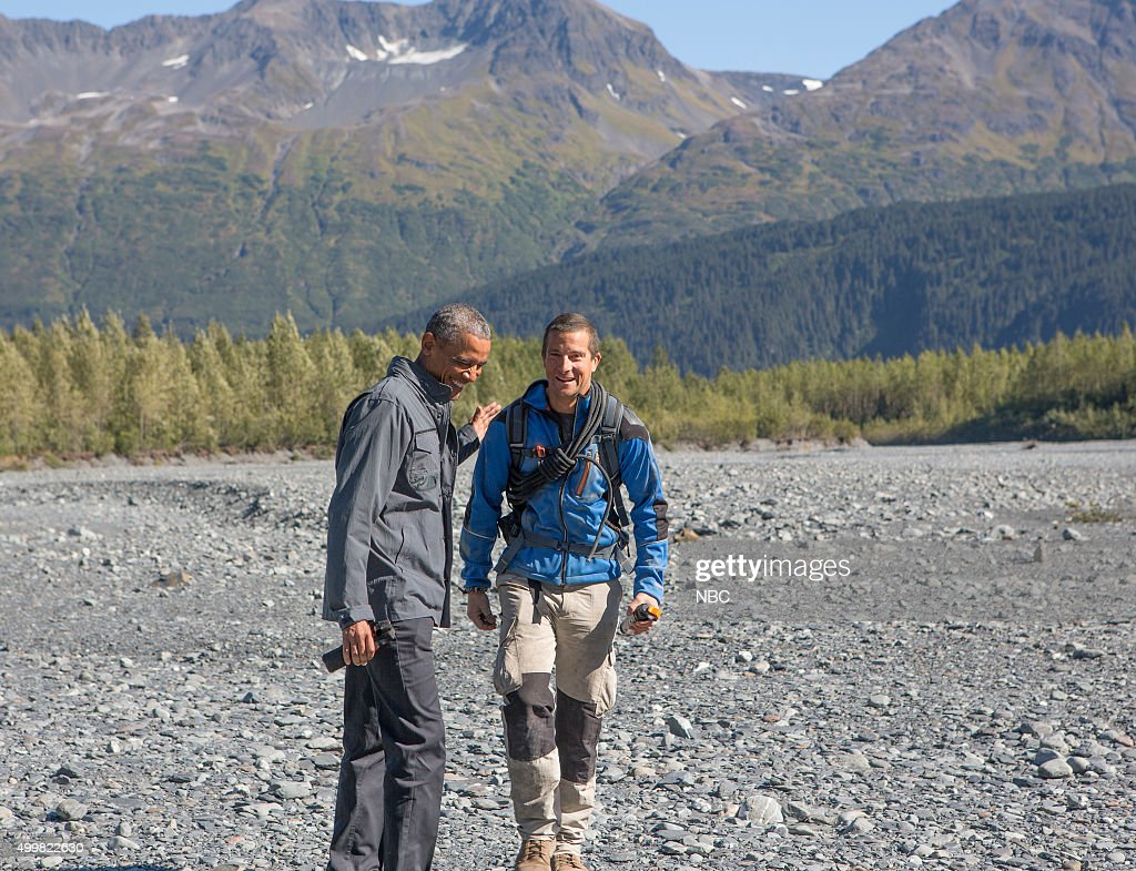 GRYLLS -- 'President Obama' Episode 209 -- Pictured: (l-r) President Barack Obama, Bear Grylls --