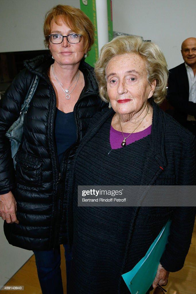 President od Association of Paris' Hospitals Bernadette Chirac and her daughter Claude Chriac attend the 'Maison de Solenn' 10th Anniversary on...