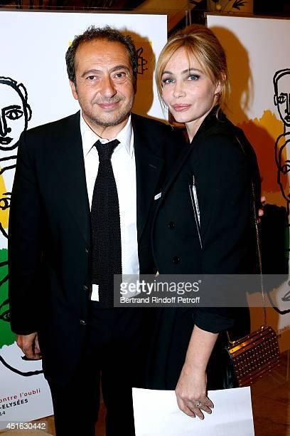 President of '19th Amnesty International France' Gala Paytrick Timsit and President of '20th Amnesty International France' Gala Emmanuelle Beart...
