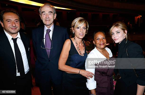President of '19th Amnesty International France' Gala Paytrick Timsit Professor Christian Cabrol President of Amnesty International France Genevieve...