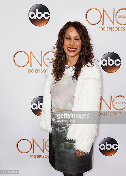 President of ABC Entertainment Channing Dungey attends the 100th episode celebration of 'Once Upon A Time' at Storybrooke Cannery on February 20 2016...