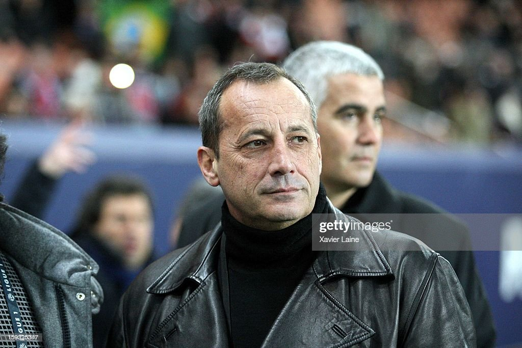 President of AC Ajaccio and Corsican Nationalist Alain Orsoni attends the French Ligue 1 match between Paris Saint-Germain FC and Ajaccio AC at Parc des Princes on January 11, 2013 in Paris, France.