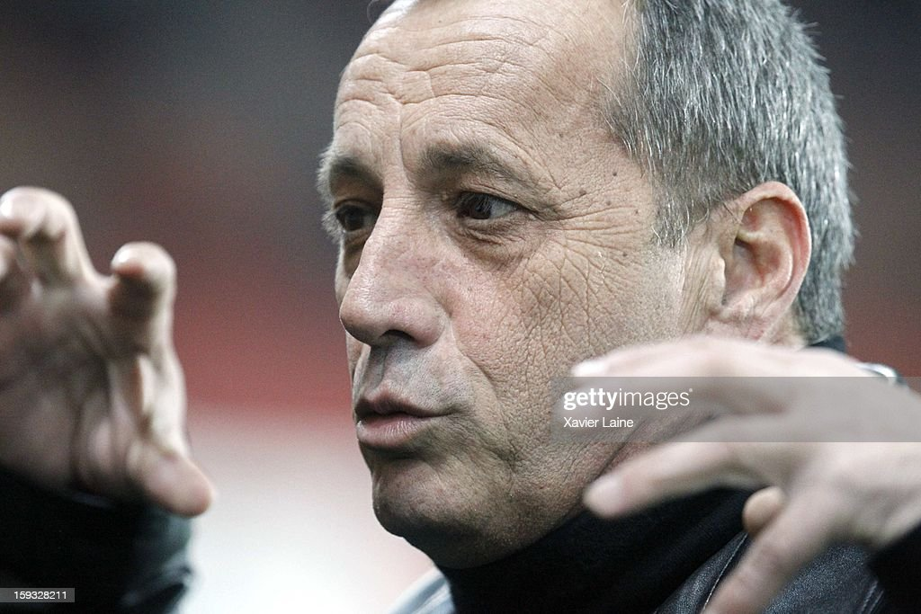 President of AC Ajaccio and Corsican Nationalist Alain Orsoni attends the French Ligue 1 between Paris Saint-Germain FC and Ajaccio AC, at Parc des Princes on January 11, 2013 in Paris, France.