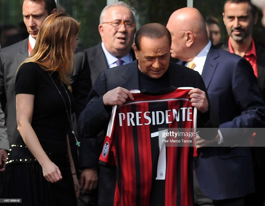 President of AC Milan <a gi-track='captionPersonalityLinkClicked' href=/galleries/search?phrase=Silvio+Berlusconi&family=editorial&specificpeople=201842 ng-click='$event.stopPropagation()'>Silvio Berlusconi</a> and <a gi-track='captionPersonalityLinkClicked' href=/galleries/search?phrase=Barbara+Berlusconi&family=editorial&specificpeople=2220402 ng-click='$event.stopPropagation()'>Barbara Berlusconi</a> arrive at Casa Milan on June 6, 2014 in Milan, Italy.