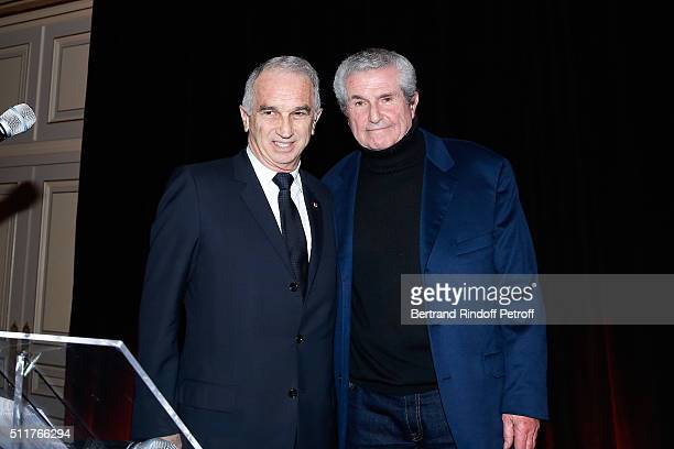 President of Academy of Cesar Alain Terzian and Director and President of the 41th Cesar 2016 Ceremony Claude Lelouch present the 'Diner des...