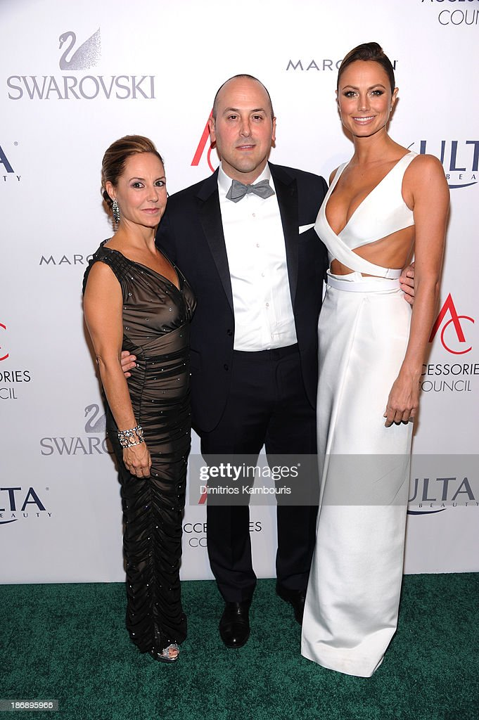 President of Accessories Council Karen Giberson, Chairman of the Accessories Council Frank Zambrelli and <a gi-track='captionPersonalityLinkClicked' href=/galleries/search?phrase=Stacy+Keibler&family=editorial&specificpeople=3031844 ng-click='$event.stopPropagation()'>Stacy Keibler</a> attend the 17th Annual Accessories Council ACE Awards At Cipriani 42nd Street on November 4, 2013 in New York City.