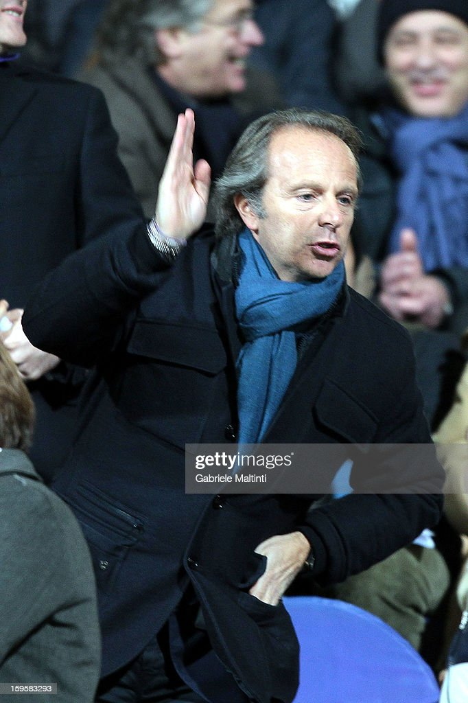 President of ACF Fiorentina Andrea Della Valle during the TIM cup match between ACF Fiorentina and AS Roma at Artemio Franchi on January 16, 2013 in Florence, Italy.