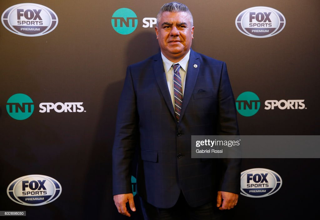 President of AFA Claudio Tapia poses during AFA's Superliga Official Launch at Hilton Hotel on August 15, 2017 in Buenos Aires, Argentina.