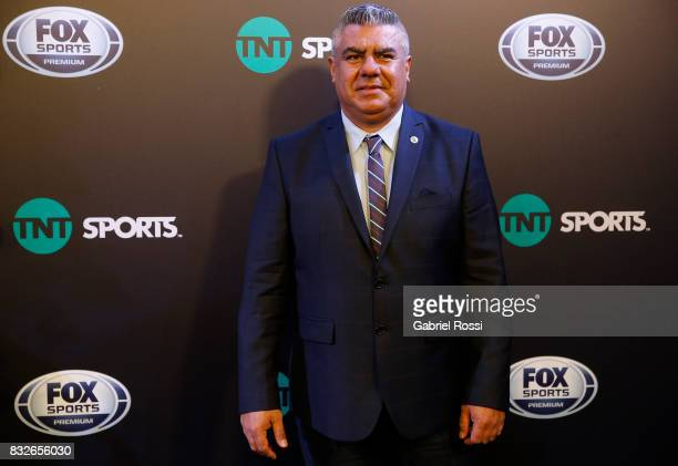 President of AFA Claudio Tapia poses during AFA's Superliga Official Launch at Hilton Hotel on August 15 2017 in Buenos Aires Argentina