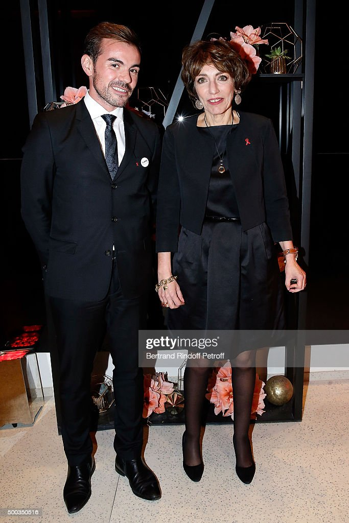 President of AIDES Aurelien Beaucamp and Minister for Health <a gi-track='captionPersonalityLinkClicked' href=/galleries/search?phrase=Marisol+Touraine&family=editorial&specificpeople=4398004 ng-click='$event.stopPropagation()'>Marisol Touraine</a> attend the Charity Dinner 'LINK for AIDES' during the 'Art is Hope' Exhibition at Place Vendome on December 7, 2015 in Paris, France.