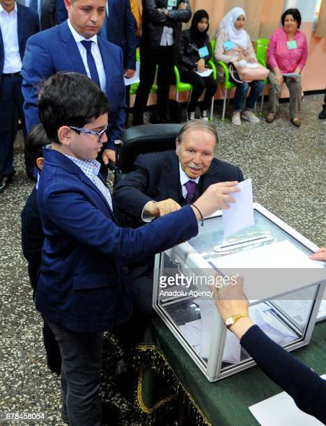 President of Algeria Abdelaziz Bouteflika casts his ballot to elect members of the countrys 462seat parliament in Algiers Algeria on May 4 2017