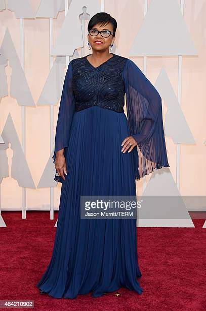 President of AMPAS Cheryl Boone Isaacs attends the 87th Annual Academy Awards at Hollywood Highland Center on February 22 2015 in Hollywood California