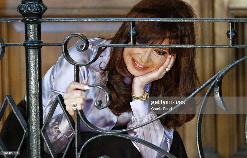 President of Argentina <a gi-track='captionPersonalityLinkClicked' href=/galleries/search?phrase=Cristina+Fernandez+de+Kirchner&family=editorial&specificpeople=565499 ng-click='$event.stopPropagation()'>Cristina Fernandez de Kirchner</a> looks on after a press conference at the Presidential Palace on September 30, 2014 in Buenos Aires, Argentina. After United States judge Thomas Griesa held Argentina in contempt of court on September 29th, Fernandez made reference to Griesa's decision on the bond payment case.
