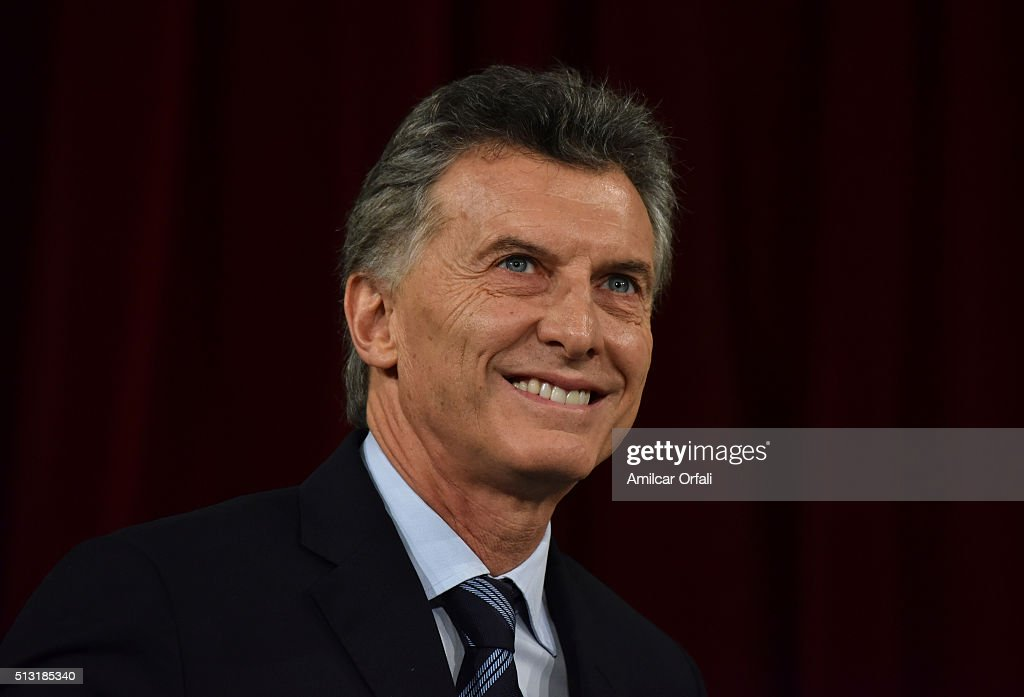 President of Argentina <a gi-track='captionPersonalityLinkClicked' href=/galleries/search?phrase=Mauricio+Macri&family=editorial&specificpeople=773012 ng-click='$event.stopPropagation()'>Mauricio Macri</a> smiles during the inauguration of the 134th Period of Congress Ordinary Sessions on March 01, 2016 in Buenos Aires, Argentina.