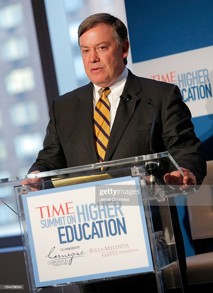 President of Arizona State Michael Crow speaks during the TIME Summit On Higher Education on October 18, 2012 in New York City.