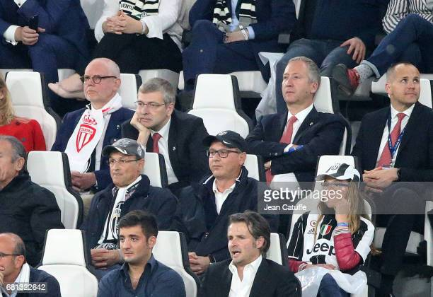 President of AS Monaco Dmitri Rybolovlev and Vice President of AS Monaco Vadim Vasilyev attend the UEFA Champions League semi final second leg match...