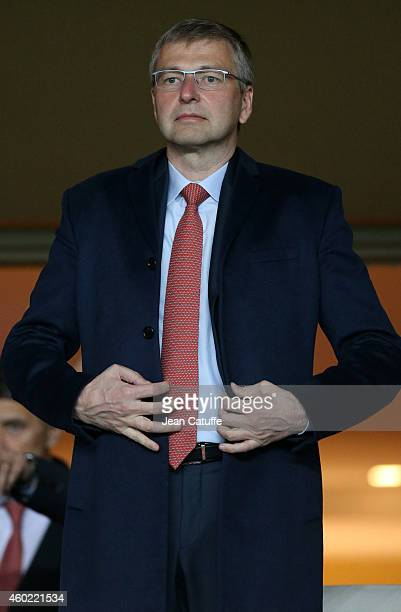 President of AS Monaco Dmitri Rybolovlev attends the UEFA Champions League Group C match between AS Monaco FC and FC Zenit SaintPetersburg at Stade...