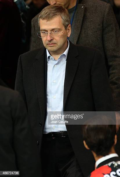 President of AS Monaco Dmitry Rybolovlev attends the French Ligue 1 match between Paris SaintGermain FC and AS Monaco at Parc des Princes stadium on...