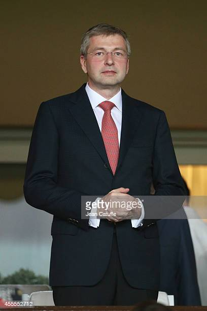 President of AS Monaco Dmitry Rybolovlev attends the UEFA Champions League Group C match between AS Monaco FC and Bayer 04 Leverkusen at Louis II...