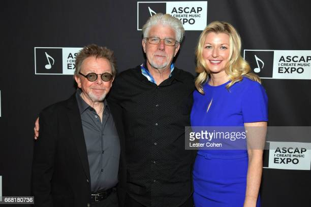 President of ASCAP Paul Williams singer Michael McDonald and Chief Executive Officer of ASCAP Elizabeth Matthews at the ASCAP Annual Membership...