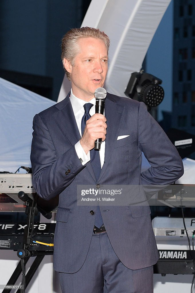 President of Audi of America Scott Keogh speaks at the grand opening of the Audi and Volkswagen Manhattan dealership on May 10, 2013 in New York City.