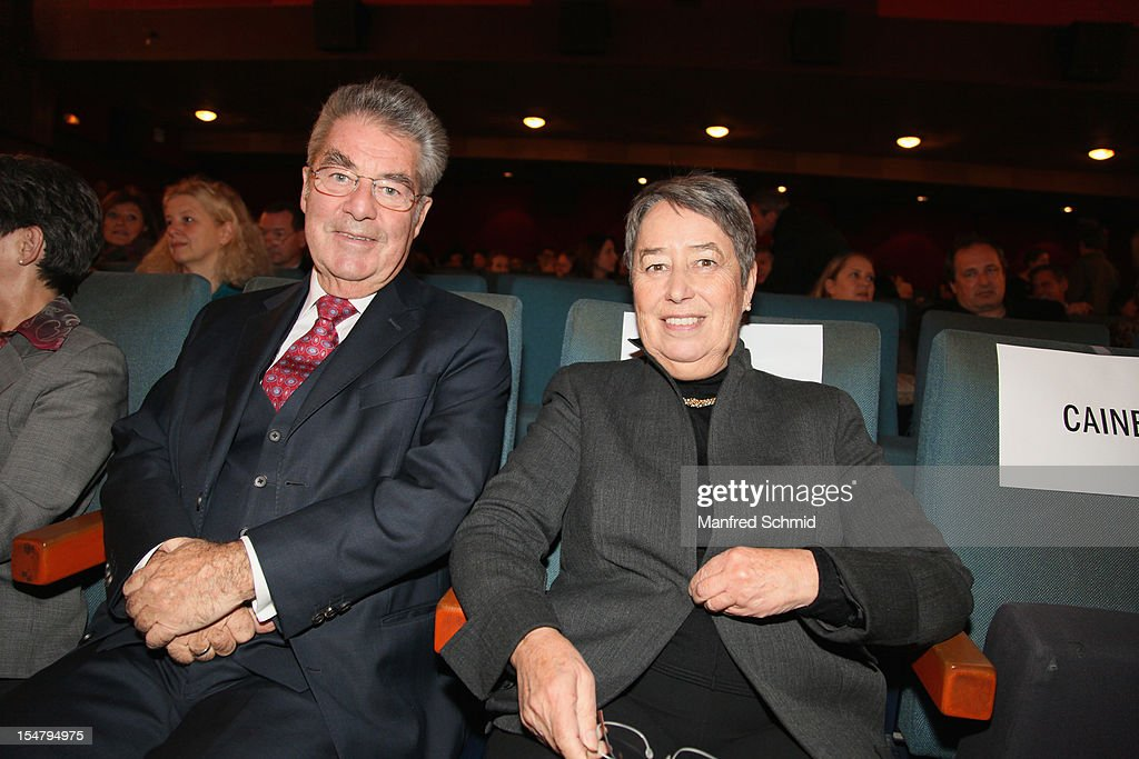 President of Austria <a gi-track='captionPersonalityLinkClicked' href=/galleries/search?phrase=Heinz+Fischer&family=editorial&specificpeople=537198 ng-click='$event.stopPropagation()'>Heinz Fischer</a> and Margit Fischer attend the 50th Viennale Opening Gala in Gartenbau cinema on October 25, 2012 in Vienna, Austria.