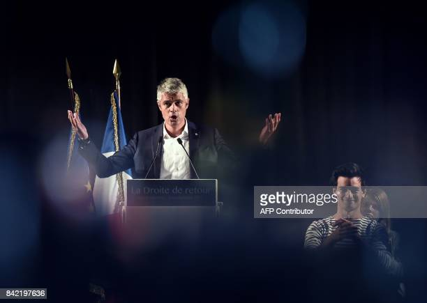 TOPSHOT President of AuvergneRhoneAlpes council VicePresident of the French rightwing Les Republicains party and candidate for the LR presidency...