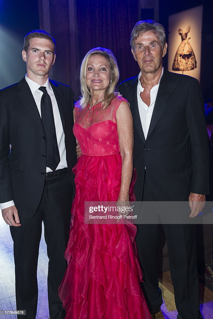 President of Barriere Group Dominique Desseigne, Baroness Gerard de Waldner and Desseigne's son Alexandre attend the Grand Bal Care In Deauville on August 24, 2013 in Deauville, France. Care France, the French branch of the humanitarian aid organization Care, was celebrating its 30th anniversary on Saturday.
