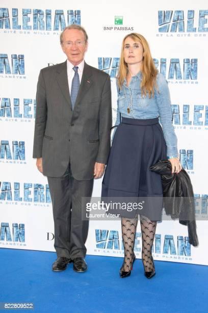 President of BNP Paribas Michel Peberau and his Daugther Sarah attend 'Valerian et la Cite desMille Planetes' Paris Premiere at La Cite Du Cinema on...