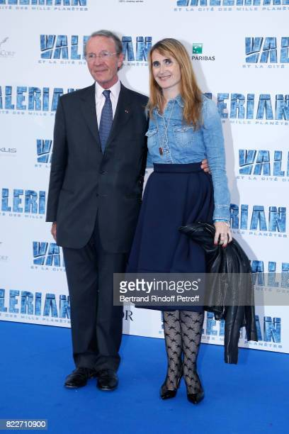 President of BNP Paribas Michel Pebereau and his daughter Sarah attend 'Valerian et la Cite des Mille Planetes' Paris premiere at La Cite Du Cinema...
