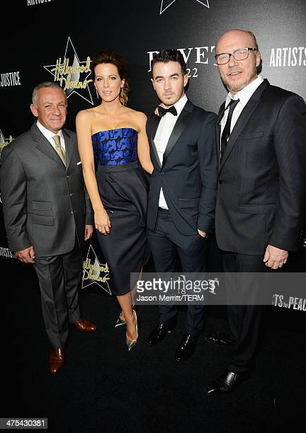 President of Bovet 1822 Pascal Raffy actress Kate Beckinsale musician Kevin Jonas and writer/producer Paul Haggis attend the 7th Annual Hollywood...