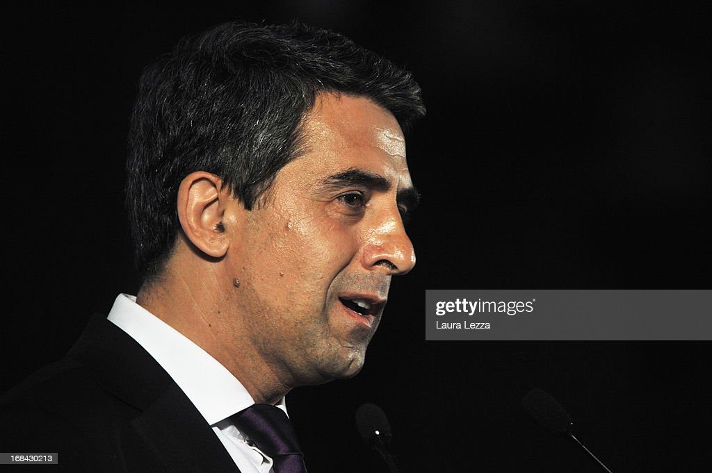 President of Bulgaria <a gi-track='captionPersonalityLinkClicked' href=/galleries/search?phrase=Rosen+Plevneliev&family=editorial&specificpeople=6873737 ng-click='$event.stopPropagation()'>Rosen Plevneliev</a> speaks during The State of Union conference on May 9, 2013 in Florence, Italy. Academic, business and political leaders are taking part in the annual conference which lasts through May 10th, debating various EU policies and institutions.