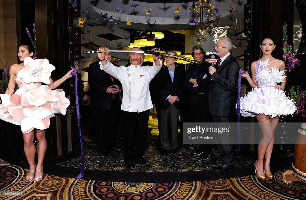 President of Caesars Entertainment Corp Western Division Tom Jenkin chef Nobu Matsuhisa CEO of Nobu Hospitality Trevor Horwell actor Robert De Niro...