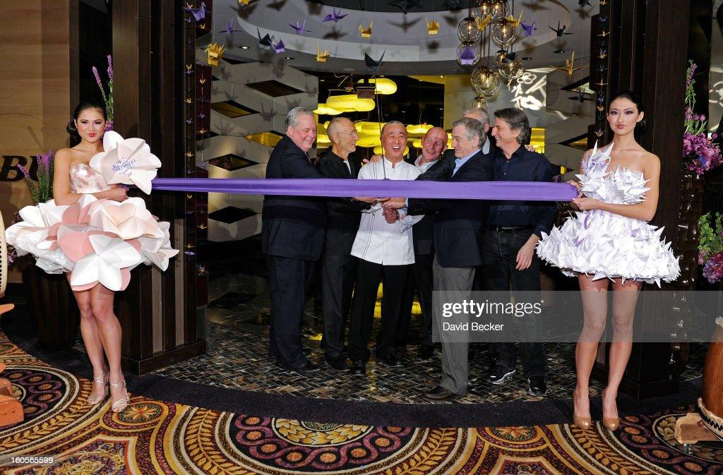 President of Caesars Entertainment Corp Western Division Tom Jenkin Meir Teper chef Nobu Matsuhisa CEO of Nobu Hospitality Trevor Horwell actor...