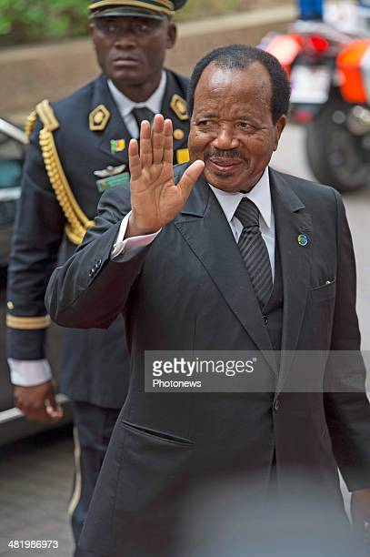 President of Cameroon Paul Biya arrives at the 4th EUAfrica Summit on April 2 2014 in Brussels Belgium There is a special crisis meeting to address...