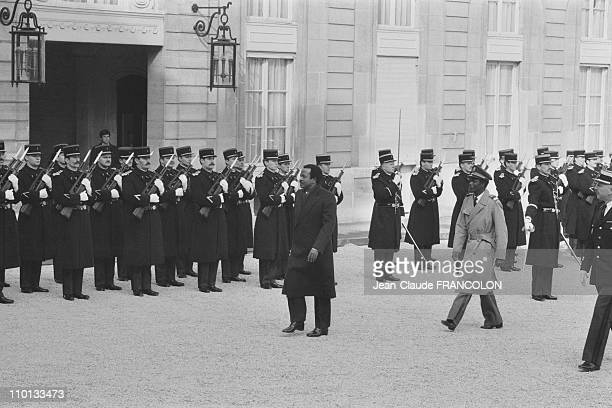 President of Cameroon Paul Biya at the Elysee Palace in Paris France on February 14 1983