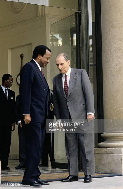 President Of Cameroon Paul Biya On March 4th 1991 In Paris France