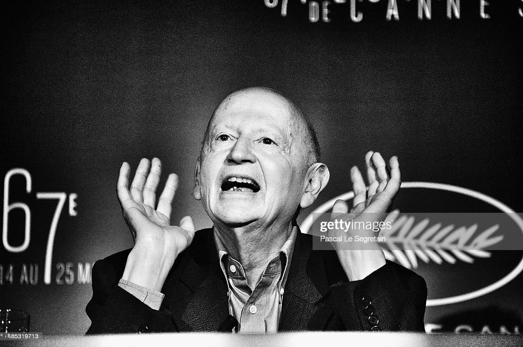 President of Cannes Film Festival, <a gi-track='captionPersonalityLinkClicked' href=/galleries/search?phrase=Gilles+Jacob&family=editorial&specificpeople=212799 ng-click='$event.stopPropagation()'>Gilles Jacob</a> gestures during the 67th Cannes Film Festival Official Selection Presentation at Cinema UGC Normandie on April 17, 2014 in Paris, France.